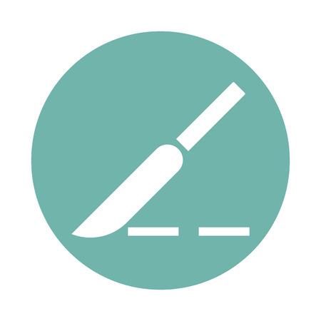 scalpel: Surgical scalpel icon