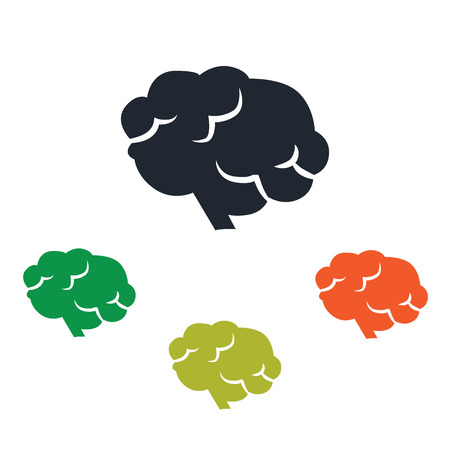 signos vitales: Human brain icon