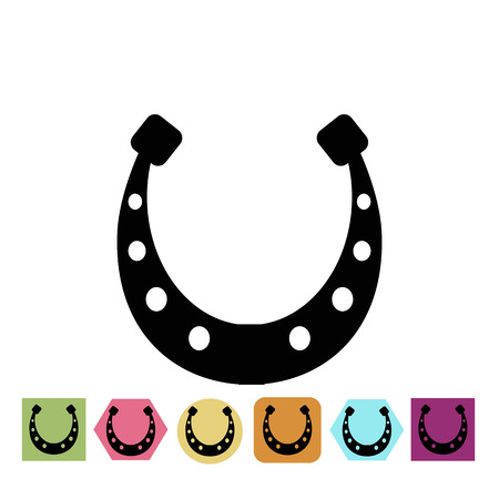 luck: Horseshoe for luck icon