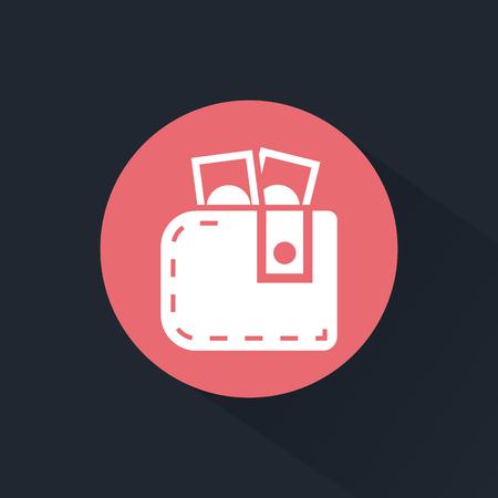 purse: Purse with money icon