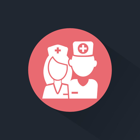 Doctor and nurse icon