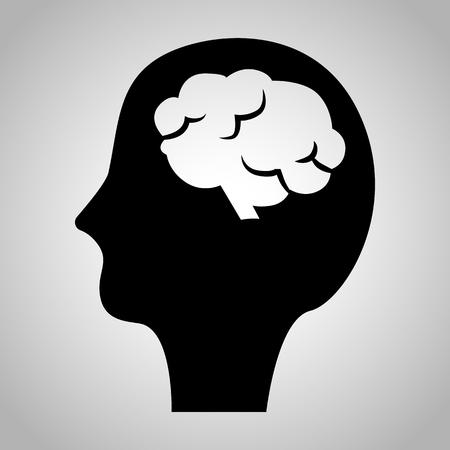 signos vitales: Cabeza humana con el icono de cerebro