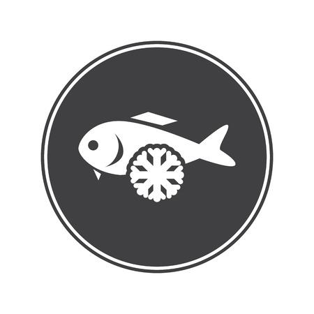 supper: Frozen fish icon Illustration