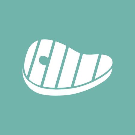 fillet steak: Meat barbecue icon Illustration