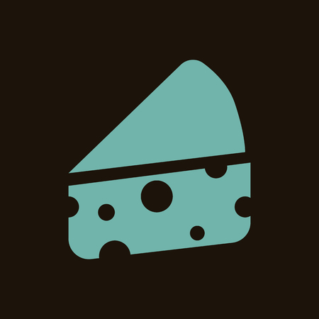 supper: Cheese slice icon Illustration