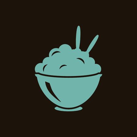 pure patatas: Pur� de papas en el icono cuenco