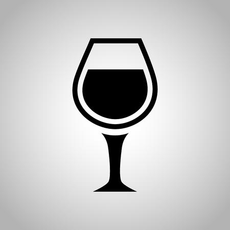 copa de vino: Copa de vino ícono Vectores