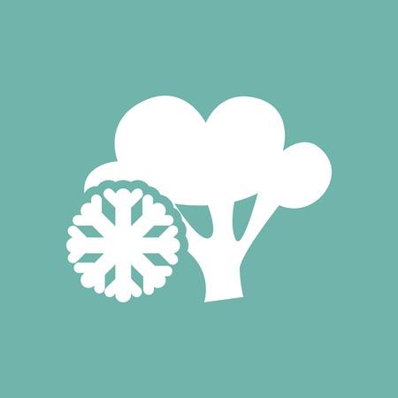 broccoli: Frozen broccoli icon