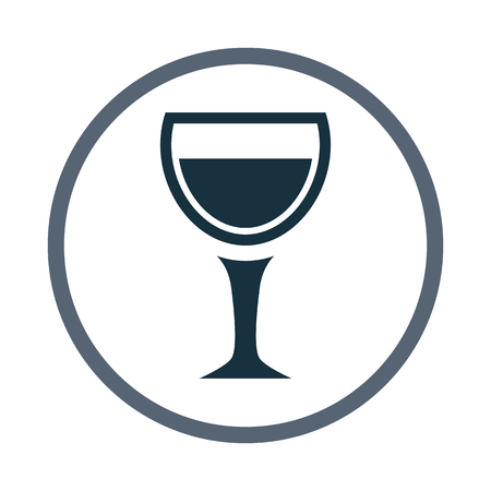 intoxication: Glass of wine icon