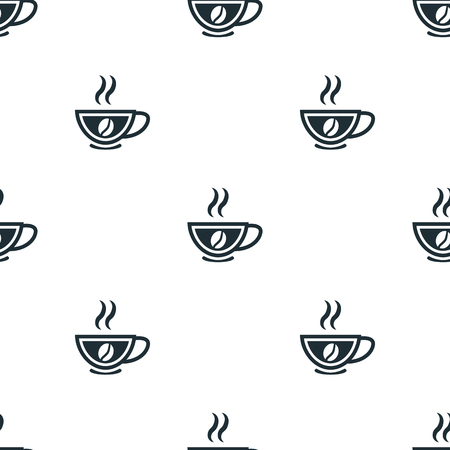 boiling water: Cup of coffee icon Illustration