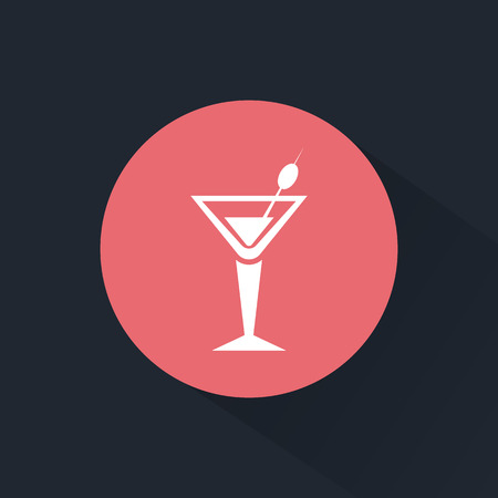 intoxication: Glass of martini icon Illustration
