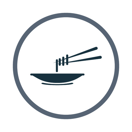 chinese food container: Pasta icon Illustration