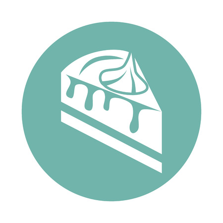 slice of cake: Slice of cake with cream icon