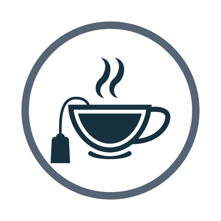 boiling water: Cup of tea icon Illustration