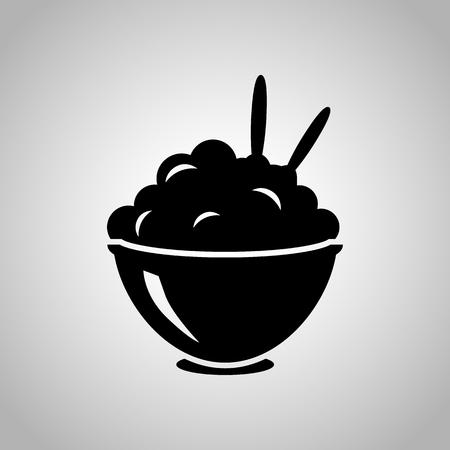 pure de papas: Puré de papas en el icono cuenco