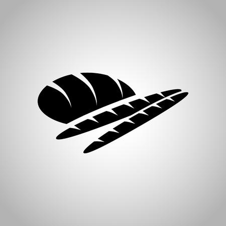 supper: Bread icon Illustration