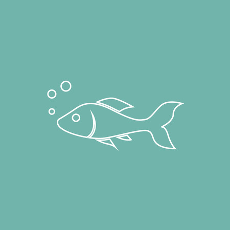 Aquarium fish icon Illustration