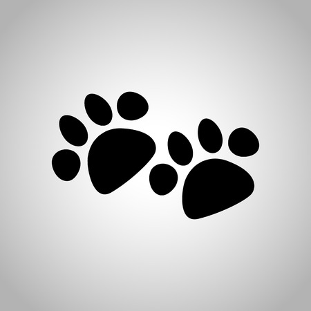 Dog paws print icon
