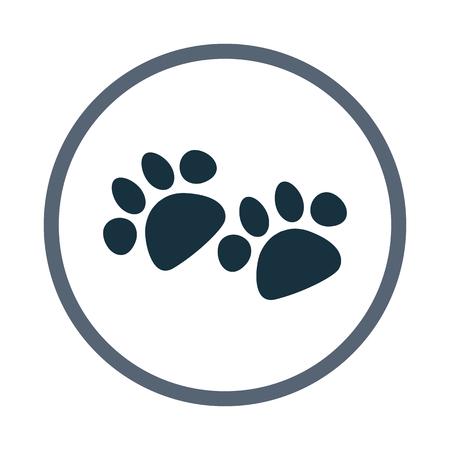 dog paws: Dog paws print icon