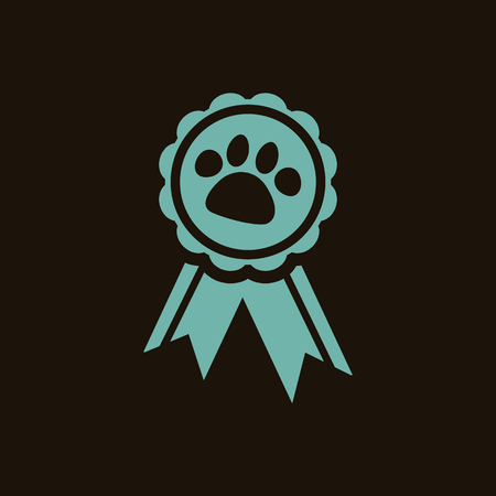 competition: Dog competition avard icon Illustration