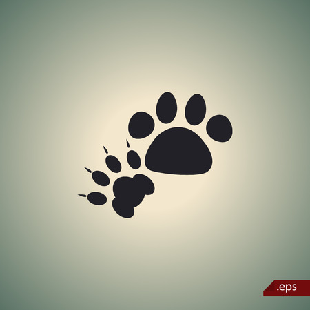 prints: Cat and dog paws print icon
