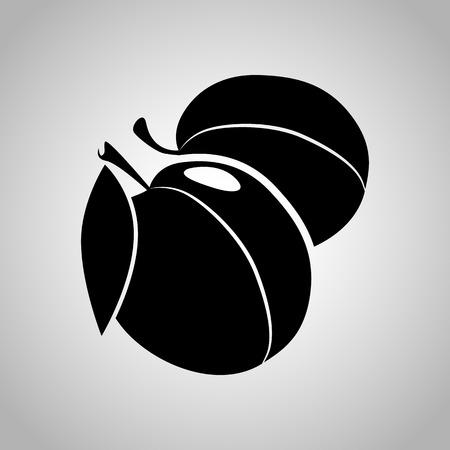 plum: Plum icon Illustration