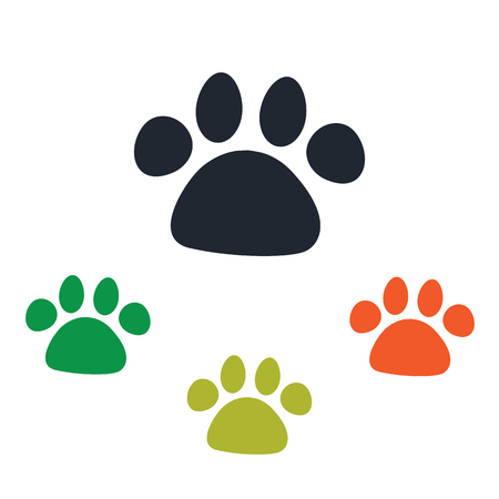 dog paw: Dog paw print icon