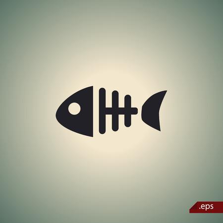 skeleton fish: Fish skeleton icon