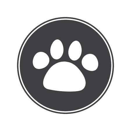 paw prints: Dog paw print icon