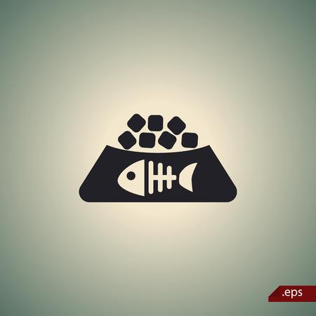signos vitales: Icono de la comida para gatos