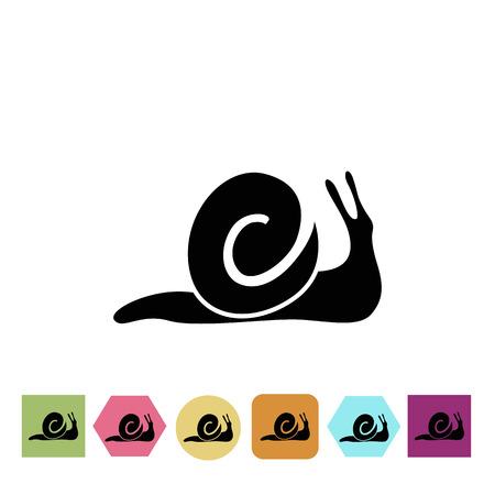 exotica: Snail icon Illustration