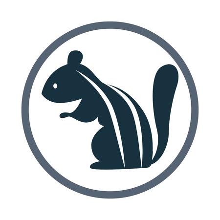 ardilla listada: Chipmunk icono