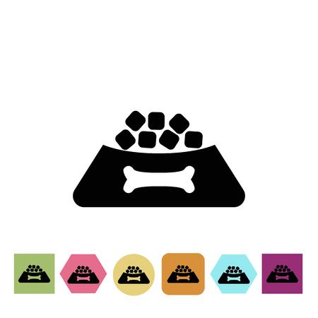 signos vitales: Icono de comida para perros