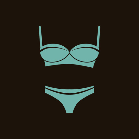girl bra: Set of bra with panties Illustration