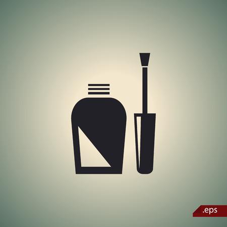 siluetas mujeres: Nail icono polaco