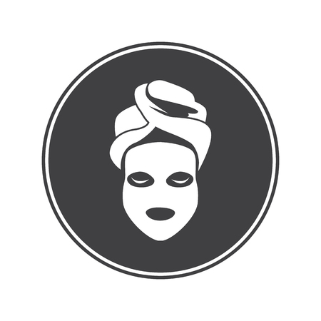 makeup products: Cosmetic mask icon Illustration