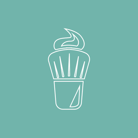 shaving brush: Shaving brush with foam icon Illustration