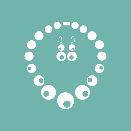 earrings: Necklace and earrings set icon