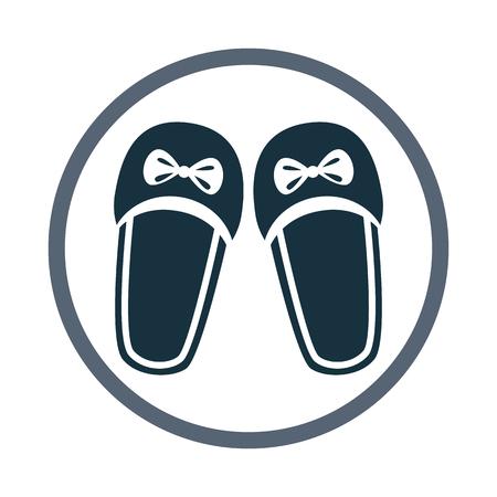 Women slippers icon