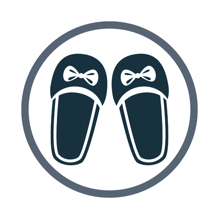Women slippers icon