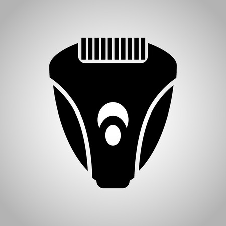 underarms: Women epilator icon Illustration