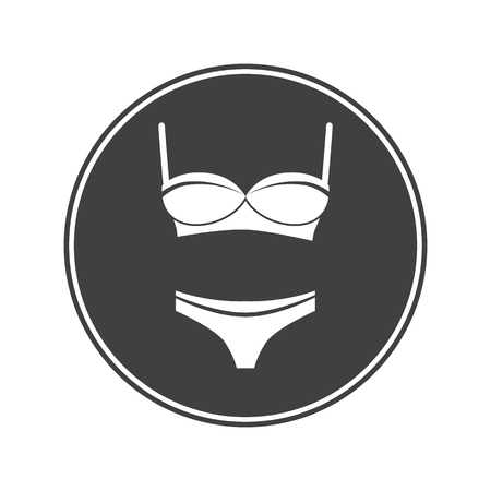 corrective: Set of bra with panties Illustration