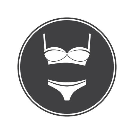 panties: Set of bra with panties Illustration