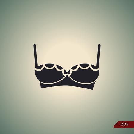 full size: Women bra icon