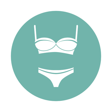 girls in panties: Set of bra with panties Illustration