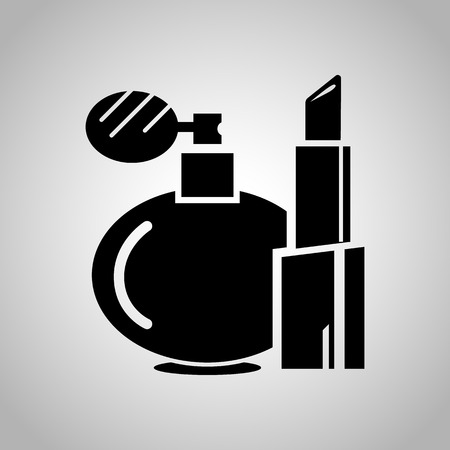 lipstick tube: Women lipstick and perfume icon
