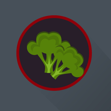 simple purity flowers: Broccoli icon