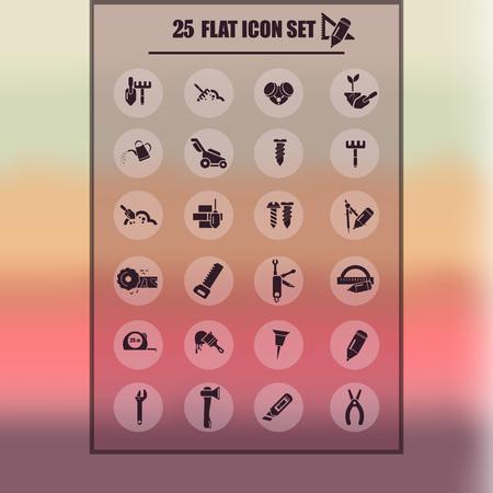 twenty five: Set of twenty five construction icons Illustration