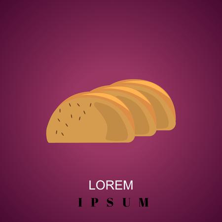 slices: Bread slices icon Illustration