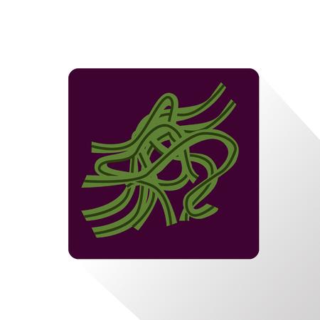 algas marinas: Icono de Algas